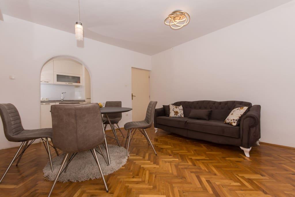 Living room in lovely apartment Buble in Kaštel Lukšić