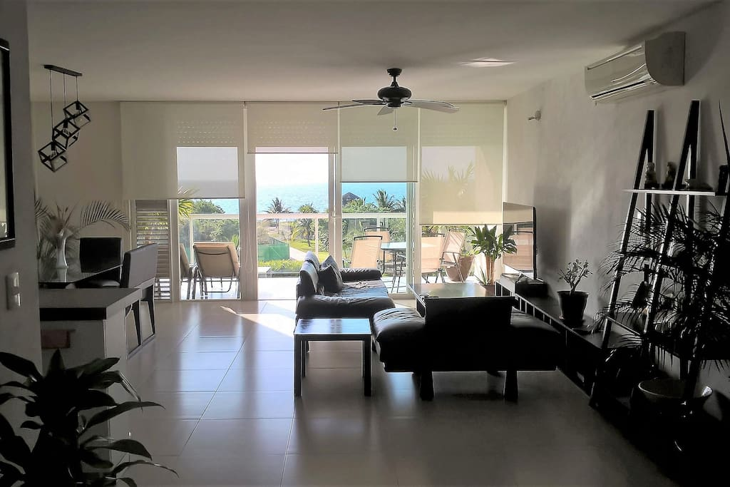 living-room with big balcony