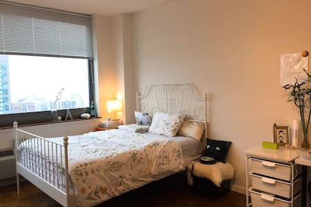 Luxury apartment living-room as Private bedroom - Jersey City