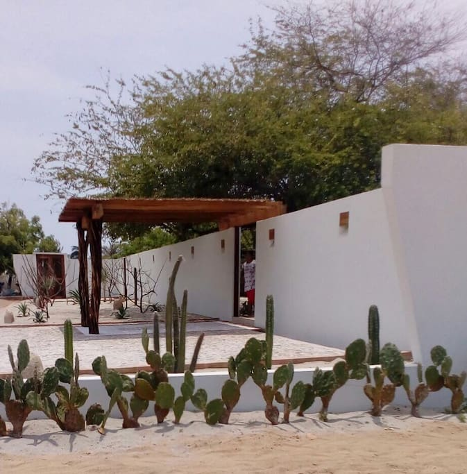 Private parking space outside the Villa
