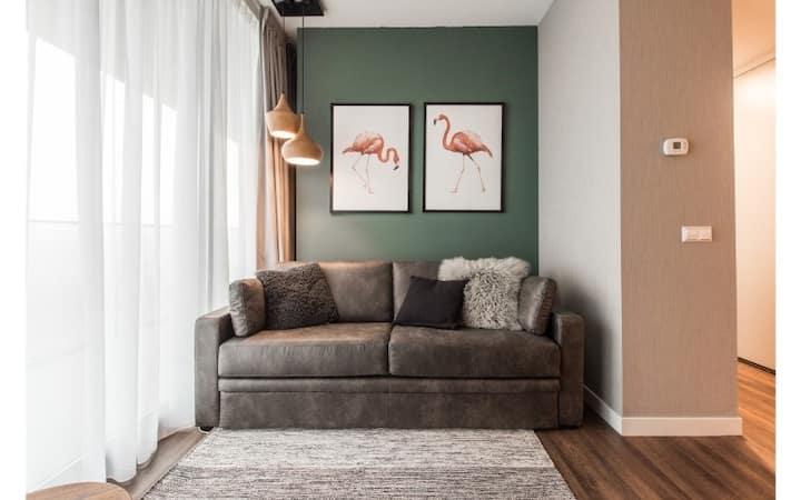 Water View 1-Bedroom Apartment in trendy NDSM