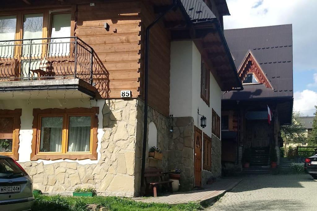 Willa Skorusa u Michalskich wejście