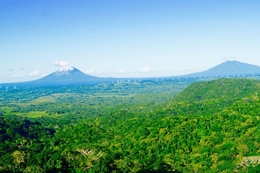 Vue sur Ometepe