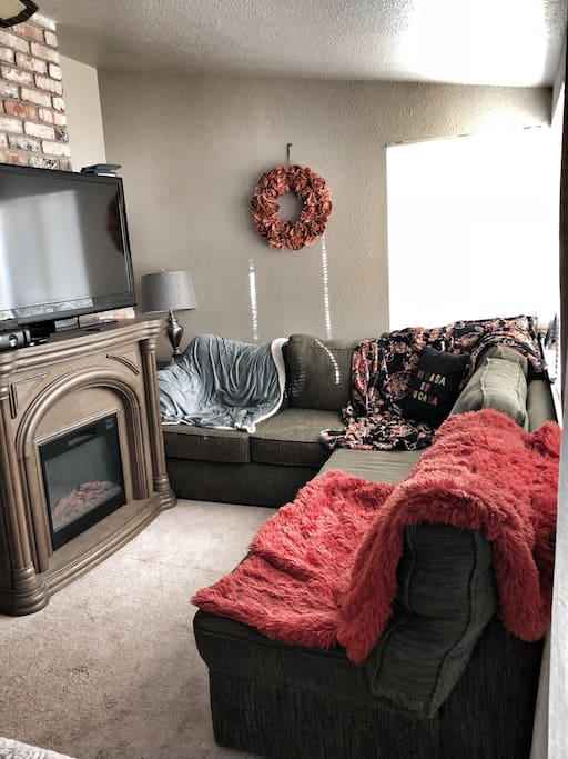 Section sitting area in room
