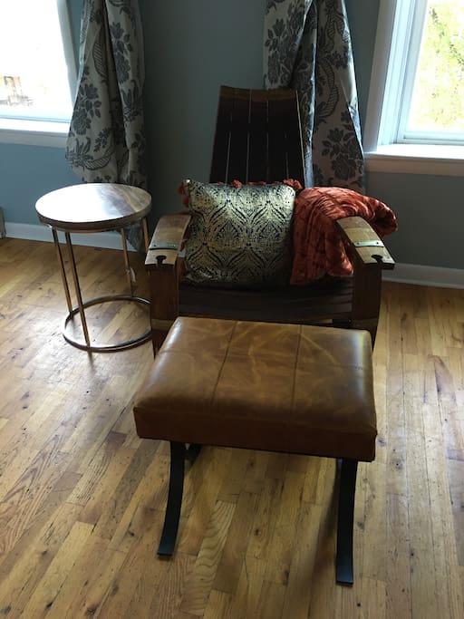Great Room - Club Barrel Chair at Bar Area
