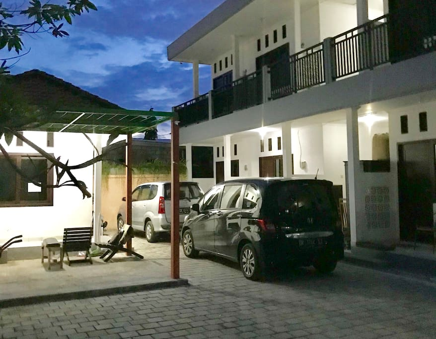 PRIME RENON has a large parking area. Furnished gazebo for casual gathering place.   There is a guard house inhabited by Mr. Niko and his wife, who are ready to help you 24 hours.