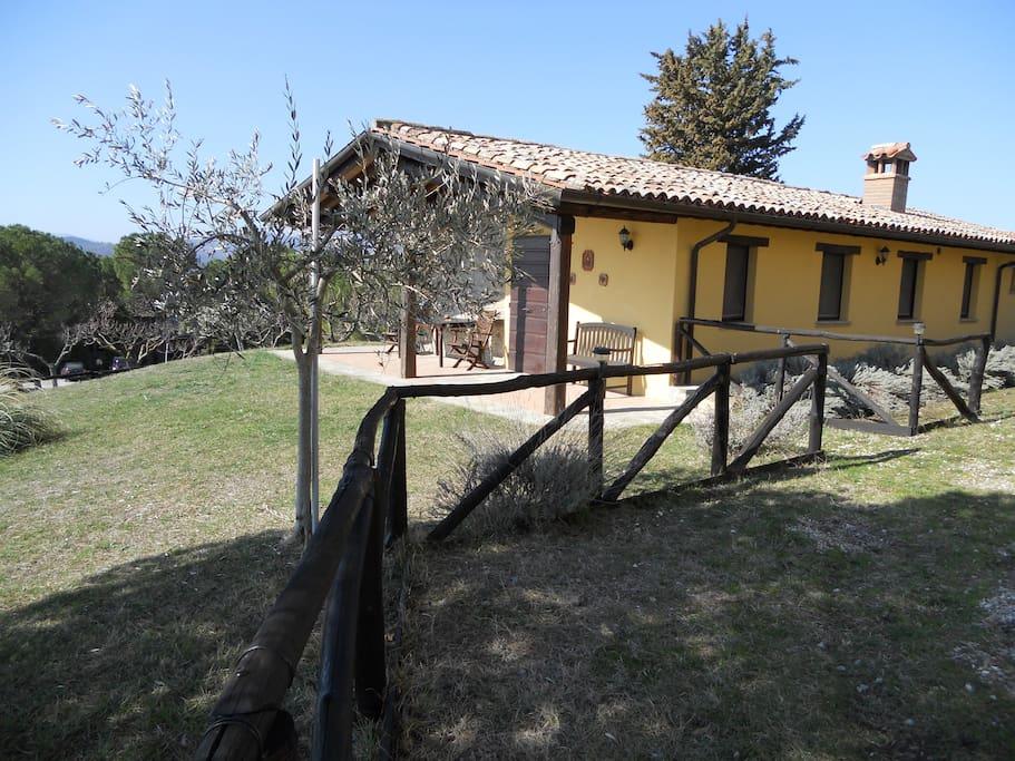 ingresso e giardino lato Alba