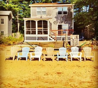 Sunny Lake House On Sandy Beach - Acton - Ferienunterkunft