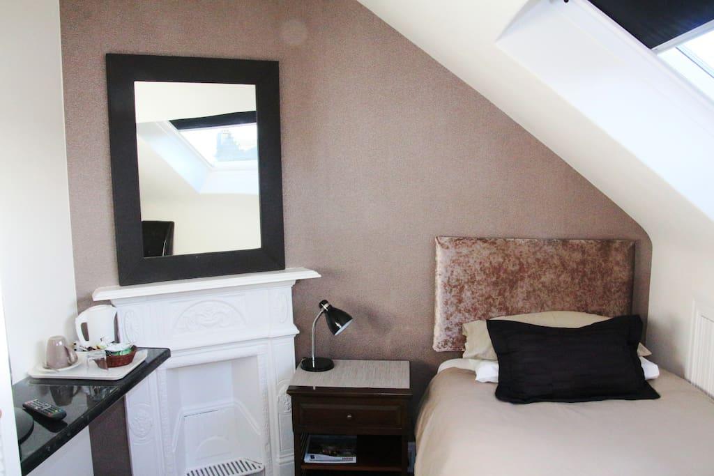 comfortable and quiet bedroom.