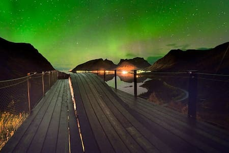 Enjoy the northern lights in a cosy home at Senja