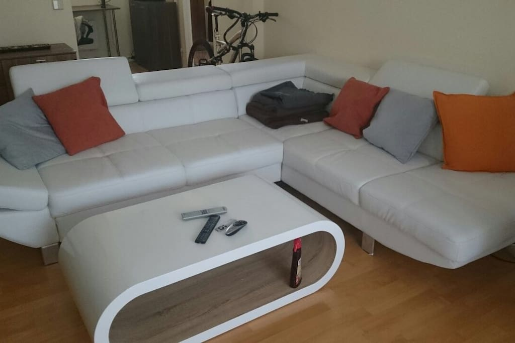 Sofa with sleeping option in the living room