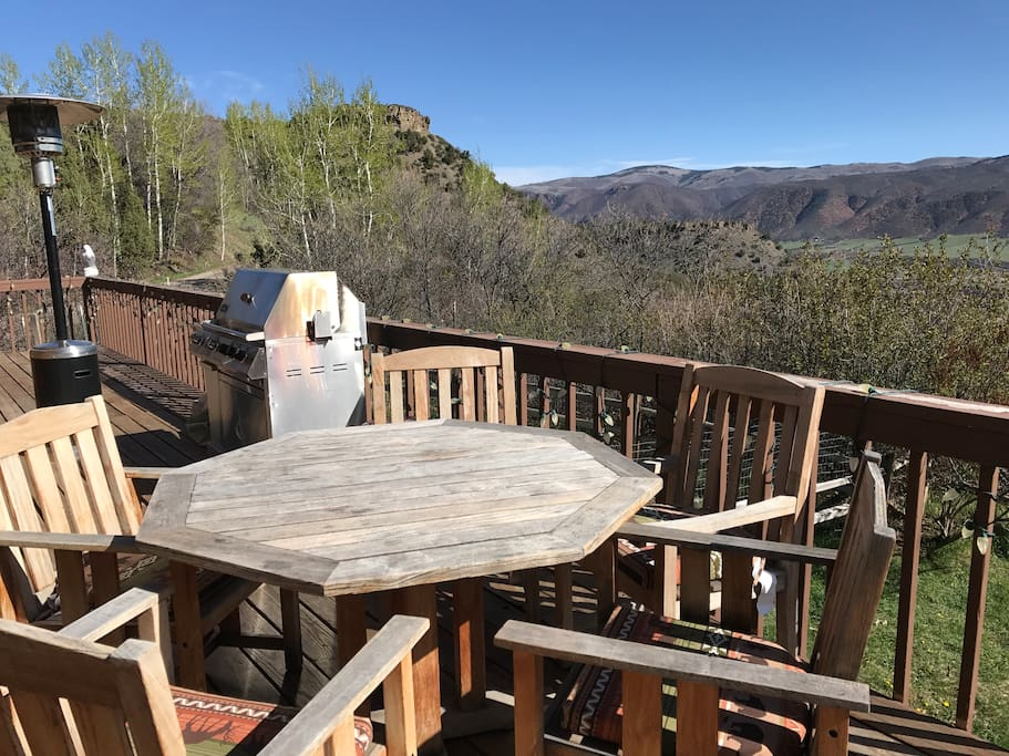 Dining from the Deck overlooking Rocky Mountains