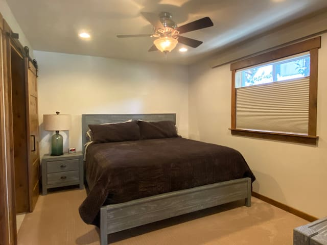 A King size bed makes the Master bedroom more enjoyable for sleeping.