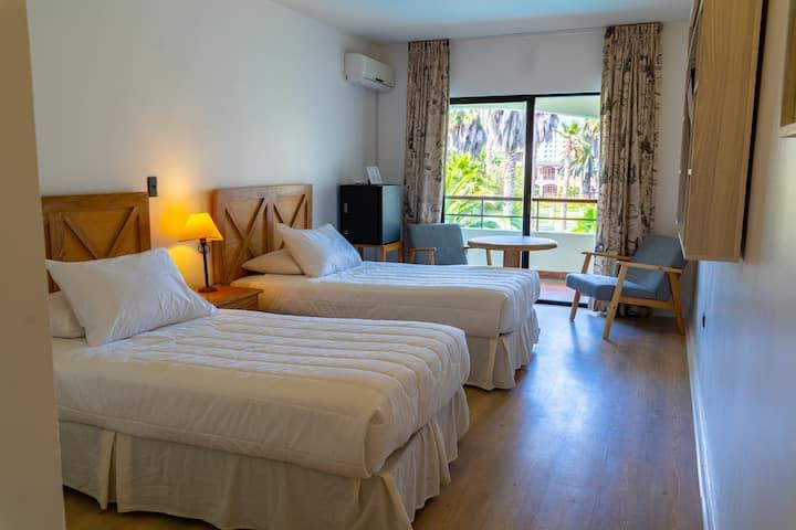 Habitación 2 camas cerca de playa de La Serena