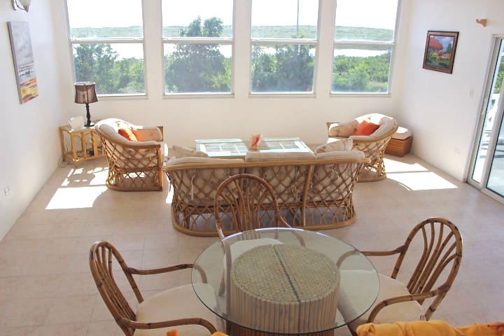 Living Room/Dining Room with panoramic views