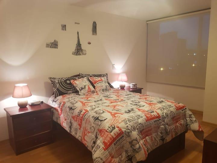 Hermosa suite, cómoda y confortable /min 2 noches