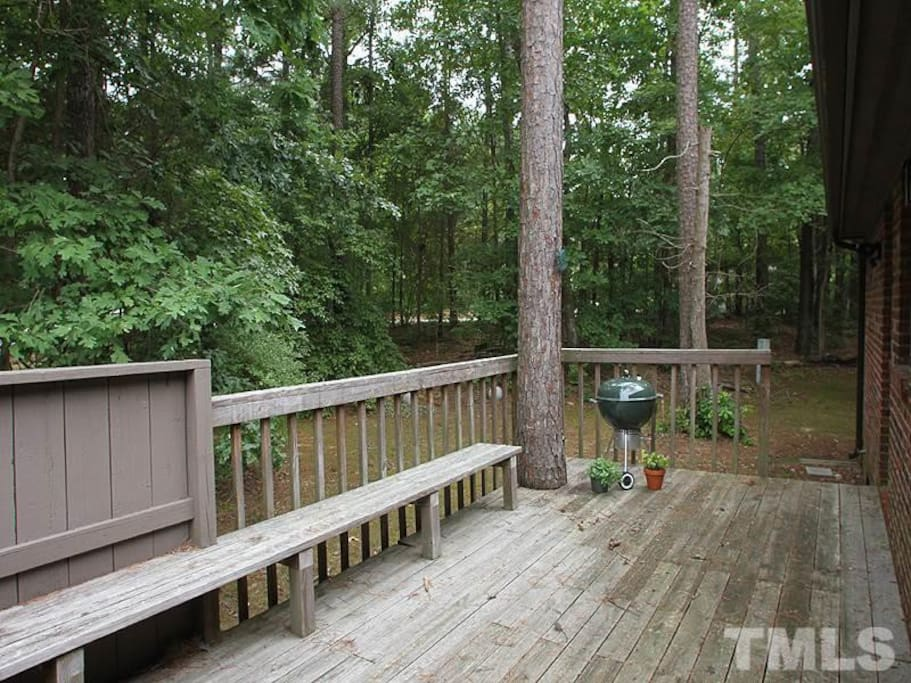 Back deck with nature views!