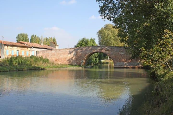 Chambre pour deux personnes près de Toulouse - Montesquieu-Lauragais - Huis