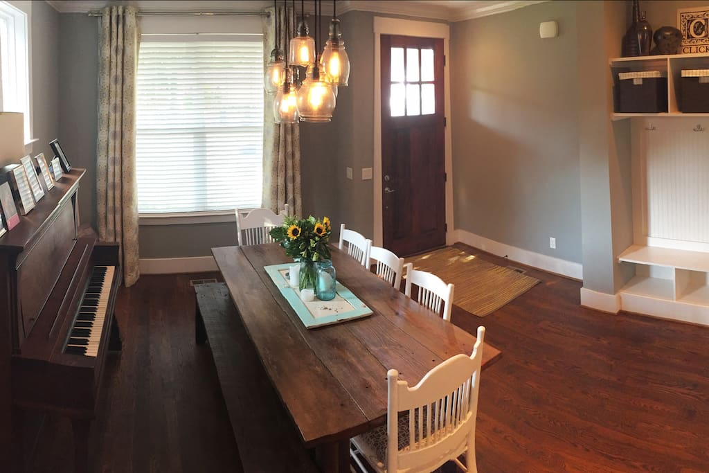 Here's another view of the dining room - the first room you'll see when entering the house.