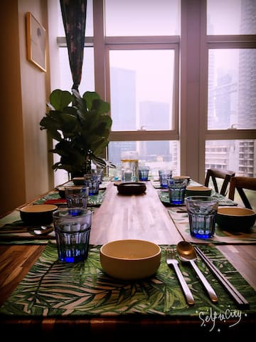 迪荡CBD·一所看得见白鹭的房子 - 绍兴 - Apartment