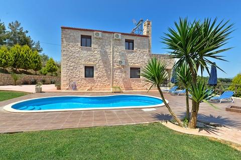 Elina Villa, private pool, bbq, panoramic view