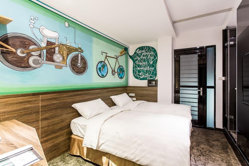 自由客房兩小床