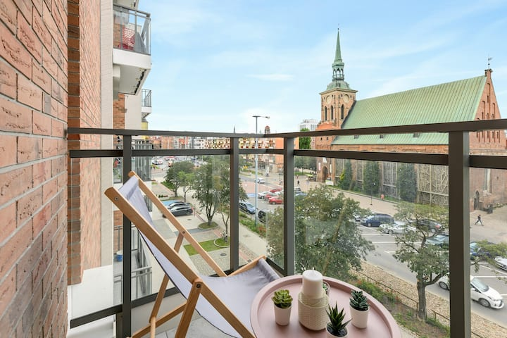 Cozy Studio Old Town View with Rooftop Garden