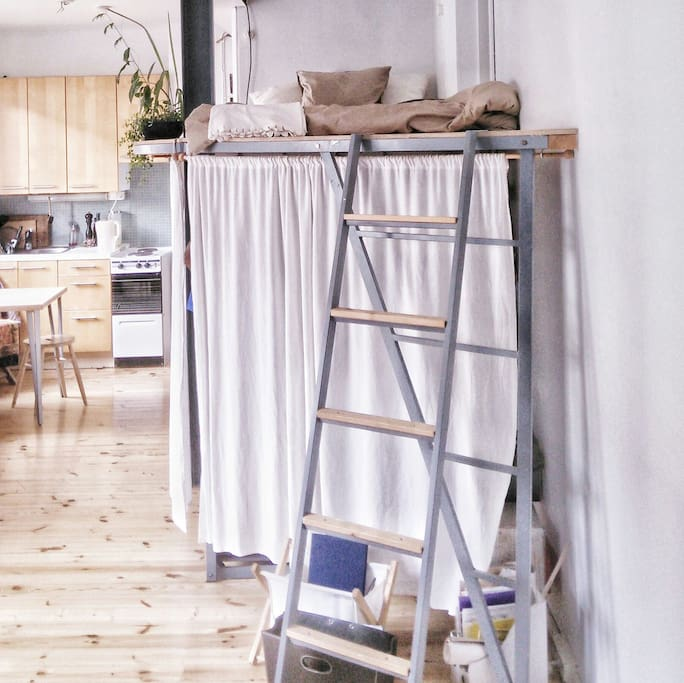 thle loft, but if you want - there is a lot of space to place it on the floor