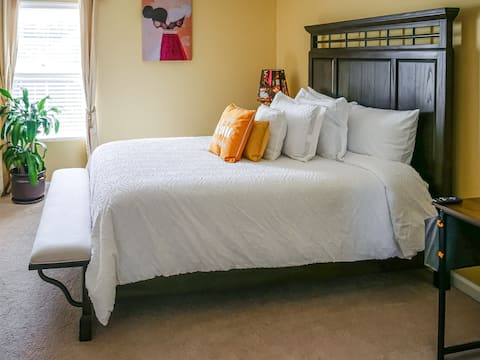 ★The Gold S★ | Serene Retreat | ♛Queen Bed | Gym