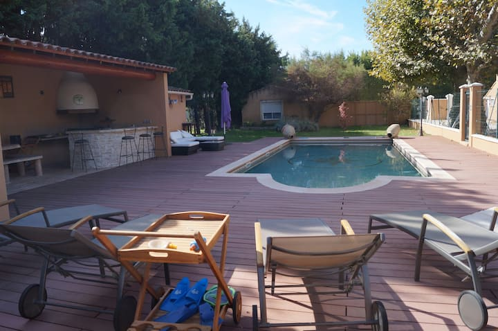 Avignon - maison 10 pers - 5 ch - sans vis à vis