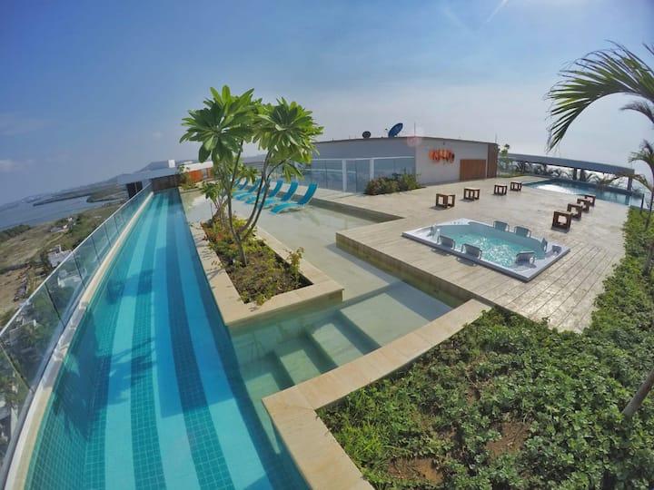 Cartagena Jacuzzi Privado Fantástico Roof Top 360º