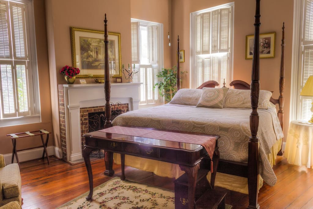 Room A of The Olde Town Inn -- a beautiful, period furnished room with private full bath