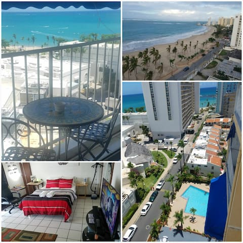 Ocean View Balcony @ Isla Verde 5min from Airport