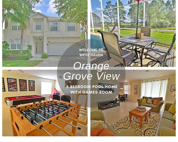 Spacious Pool Home With Game Room in Gated Community (414HC)