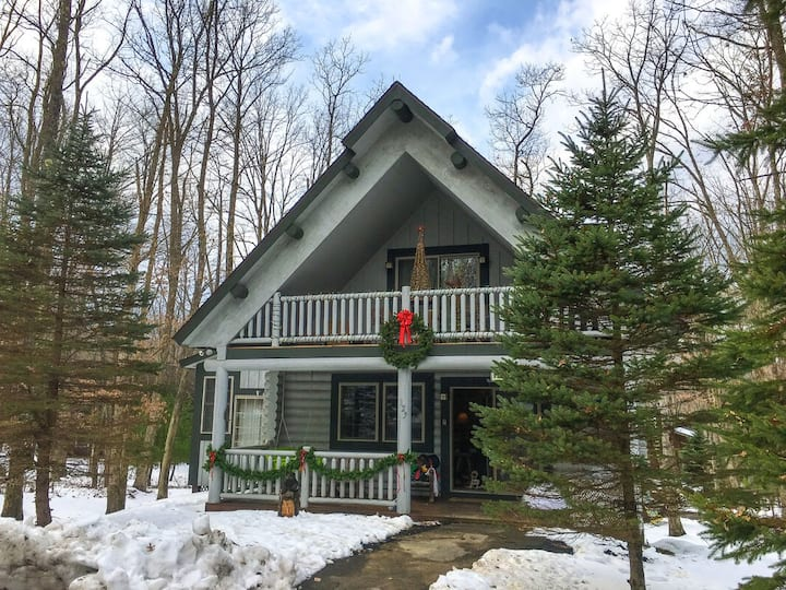 DOGS WELCOME! Lake Area Home w/Indoor Hot Tub, Sun Room, & 2 Fireplaces!