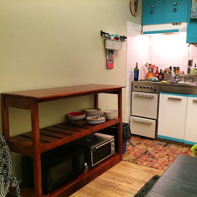 Self Custom built shelf/island.
