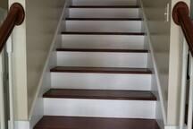 Stairway leading to 2 upstair Bedrooms
