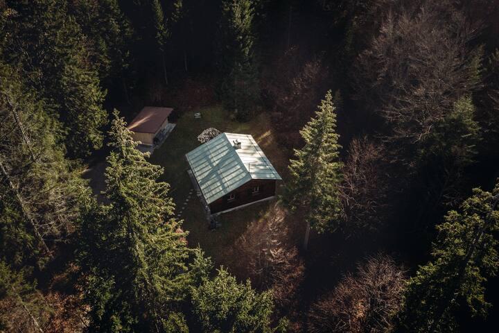 Buchner Hütte aus der Vogelperspektive