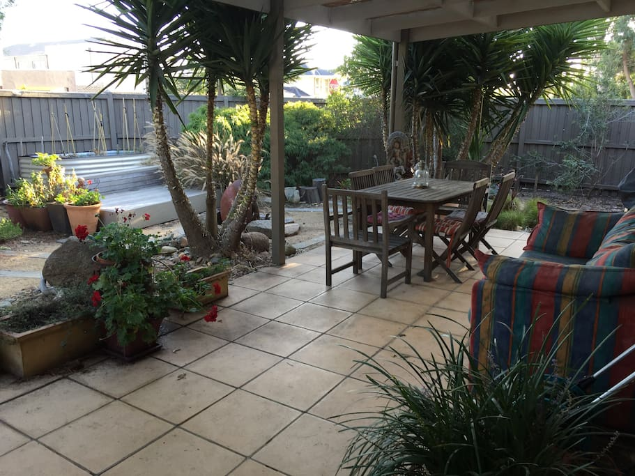 Gorgeous outdoor area, an oasis of peace and fun! BBQ included