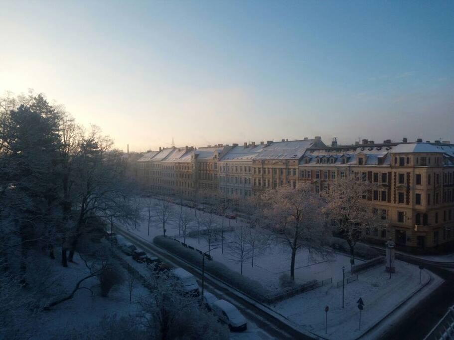 Lutherplatz im Winter