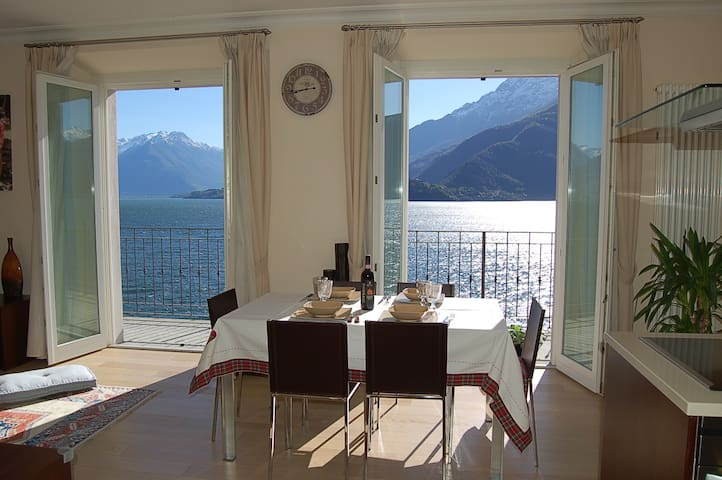 Apartment directly on the lake with swimmngpool - Musso - Daire