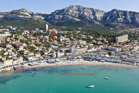 Joli T3 les pieds dans l'eau à la Pointe Rouge - Marseille - Appartement