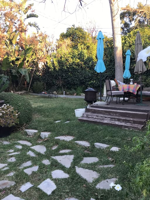 Small private backyard with BBQ