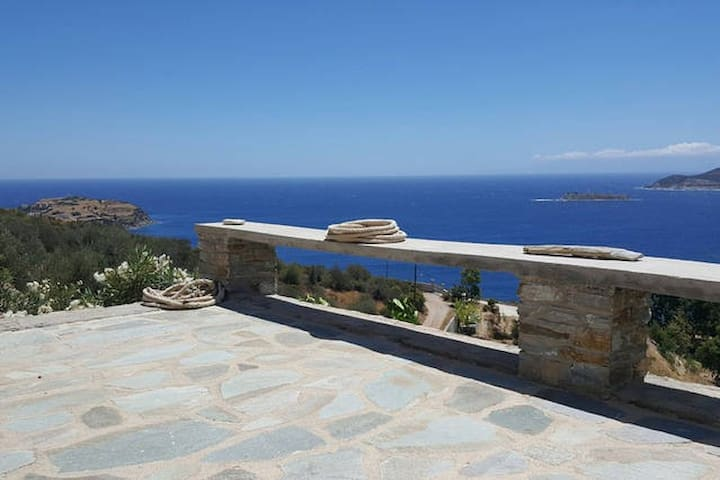 Aegean Blue Panorama House! - Petries - Rumah