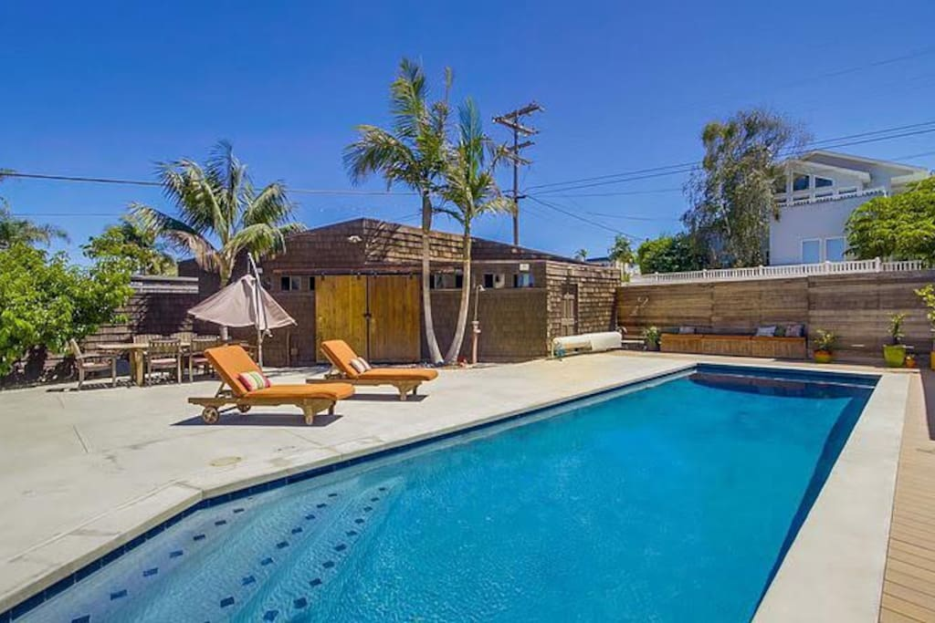 Beautiful, private back yard pool on the sunny west side.