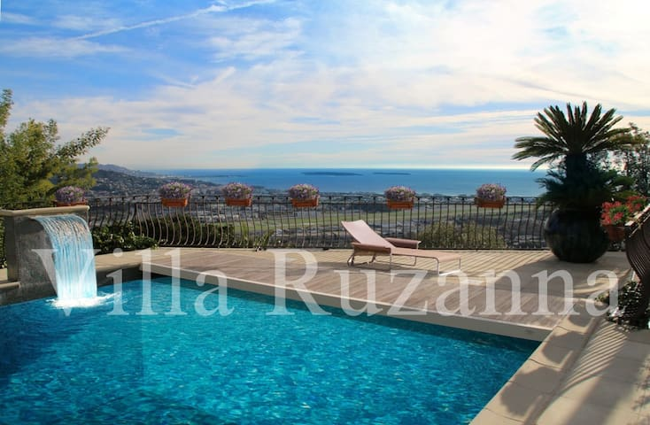 GREAT Panorama BIG Pool Cannes 15 min BEST Price