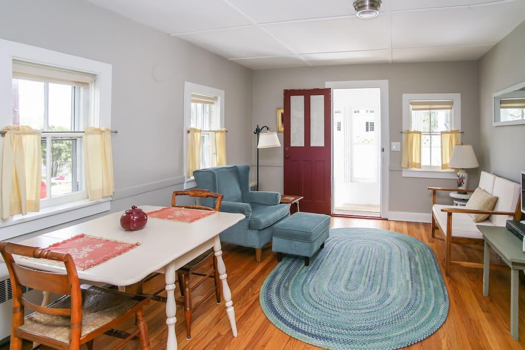 Airy, light-filled rooms.  Hardwood floors.