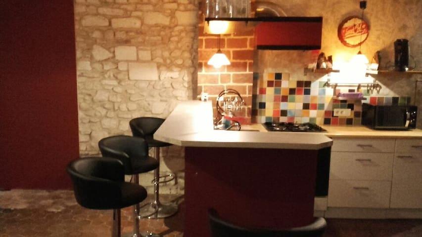 Appartement Atypique, chaleureux - Auxerre - Huoneisto
