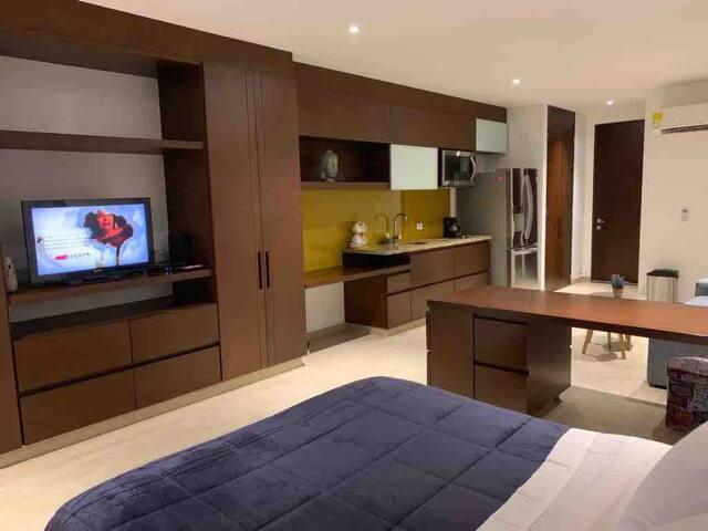 Acogedor Apartaestudio tipo loft mejor ubicación