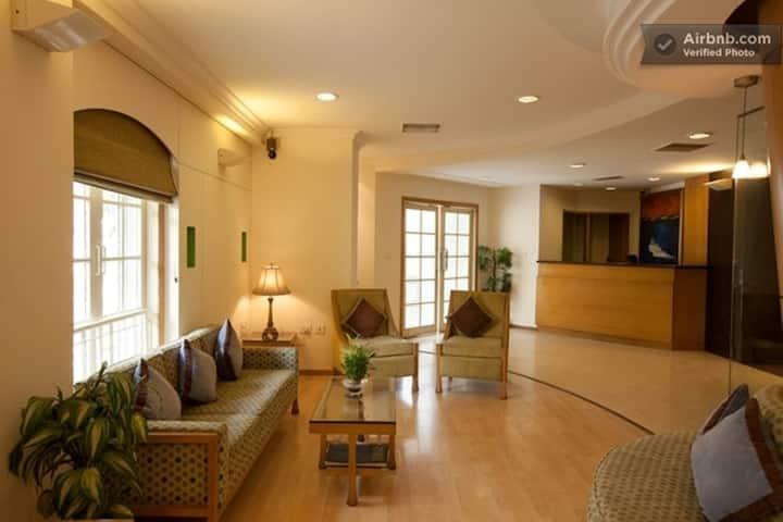 One bedroom Apart with living area in Indiranagar